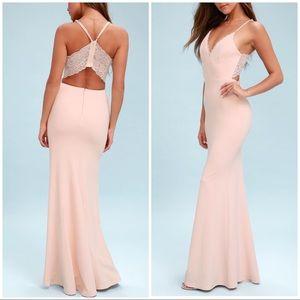 Lulu's • Love Story Pale Blush Dress